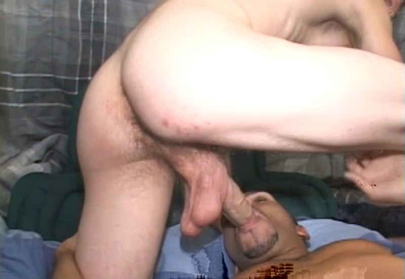 ball sucking white guy